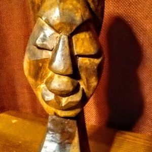 Hand carved statue